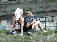 Young couple got horny in public