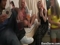 College girls get horny playing drinking games
