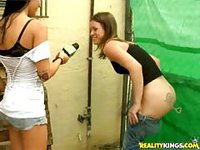 Hot girls masturbating in public