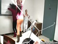 College dorm room sexy pranks