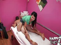 Hot Asian masseuse has a good hand