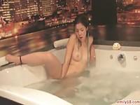 Wild Emily teasing in the bathtub