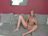 MILF Ramming a Toy During Shoot