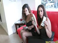 Matured ladies flashed their tits for money
