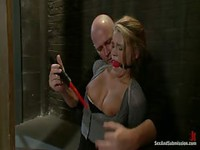 Poor chick got fucked hard in bondage