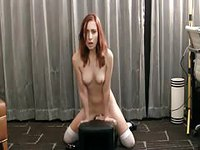 Redhead Drilled by Sybian