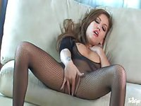 Stunning college model fingering herself