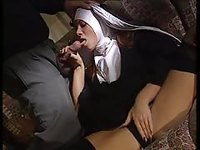 Uniformed Nun Sucks and Fucks