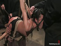 Willing housewife bound and used by group