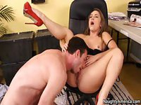 Sexy young girl gets fucked in her red heels