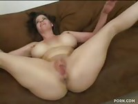 Amateur with huge tits bareback fucked