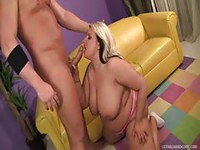 Chubby blonde whore picked up and nailed
