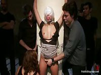 Willing slut takes her chances and gets abused in this dungeon bondage scene