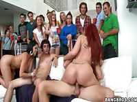 College party turns into a dick sucking pussy fucking festival