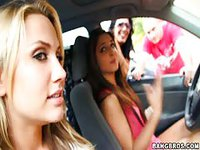 Lucky guy finds himself in the presence of hot girls willing to be naughty
