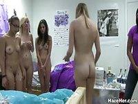 Naked sorority pledges