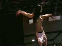 Super sexy dark skinned stripper
