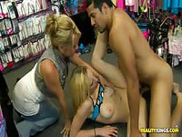 Soft pale blonde gets pounded on the floor