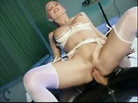 Kinky blonde likes to dress up to get fucked