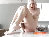 Hot Blonde Likes OMBLIVE Vibe Toy to Make Her SQUIRT