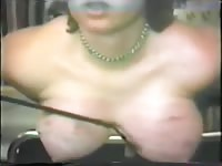 Punishment comes a-plenty for this big breasted amateur wife as she's bound and flogged