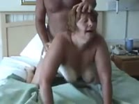 Thick amateur wife riding her man's pole before he takes over and gives it to her from behind