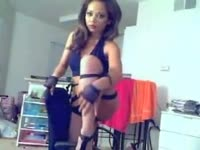 Exotic cougar with a fantastic body modeling and stripping during a recent live webcam show