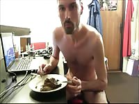 Ukrainian pervert likes shitting in the plate and then eating it
