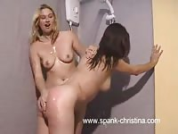 Horny lesbians adore playing in the shower before visiting their bedroom